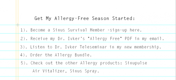 Get Allergy Season Started